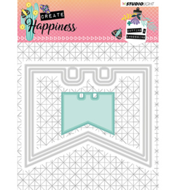STENCILCR154  Cutting and Embossing Die Create Happiness nr.154