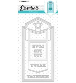 SL-ES-CD82 StudioLight  Cutting Die Slimline arrow mini envelope Essentials nr.82