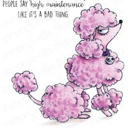 584730 Stamping Bella Cling Stamps Oddball Poodle