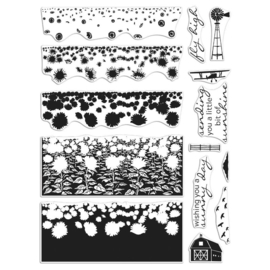"620571 Hero Arts Color Layering Clear Stamps 4""X6"" Sunflower Field"