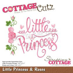 "CCE605 CottageCutz Dies Little Princess & Roses .9"" To 3.2"""
