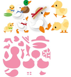 COL1428 Marianne Design Collectables Eline's duck family