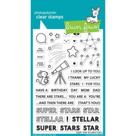 "LF2241 Lawn Fawn Clear Stamps Super Star 4""X6"""
