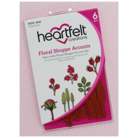 HCPC3932 Heartfelt Creations Cling Rubber Stamp Set Floral Shoppe Accents