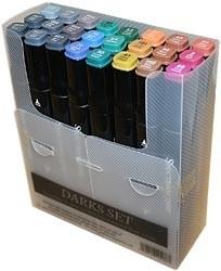 205098 Spectrum Noir Alcohol Markers Darks 24/Pkg