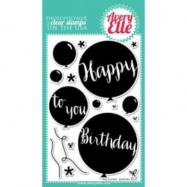 109130 Avery Elle Clear Stamp Set Balloons