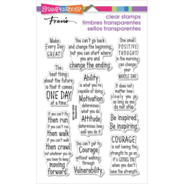 632329 Stampendous Perfectly Clear Stamps Courage Quotes
