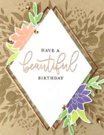 """647226 Concord & 9th Clear Stamps Botanical Turnabout 6""""X6"""""""