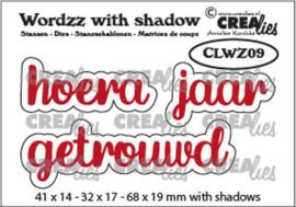 CLWZ09 Crealies Wordzz with Shadow Hoera getrouwd