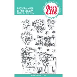 "541777 Avery Elle Clear Stamp Set A Merry Little Christmas 4""X6"""