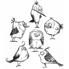 342971 Tim Holtz Cling Rubber Stamp Set Bird Crazy