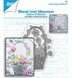 6002/1454 Snij-debos-embosstansmal bloemen mand