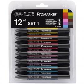 448186 Winsor Newton Promarker Sets #1 12/Pkg