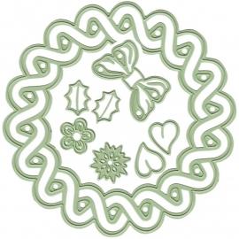 458275 Lea`bilities Cut & Emboss Dies 4 Seasons Wreath