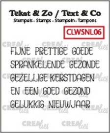 130505/1206 Crealies Clearstamp Tekst & Zo woordstrips KERST (NL) CLWSNL06 5x 4x45mm