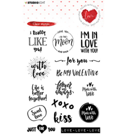 STAMPFWL508 Studio Light Clear Stamp Filled With love nr.508