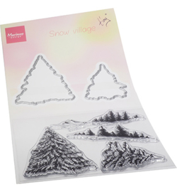 TC0887 Marianne Design Tiny's Snow village