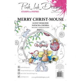 PI080 Creative Expressions Pink ink Christ mouse clear stamp