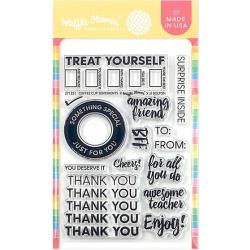 """596474 Waffle Flower Crafts Clear Stamps Coffee Cup Sentiments 4""""X6"""""""