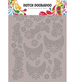 492.006.005 Dutch DooBaDoo Greyboard Art Lace flowers