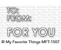 MFT-1507 My Favorite Things Gifty Greetings Die-namics