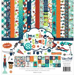 "335043 Echo Park Collection Kit Imagine That Boy 12""X12"""