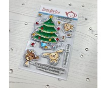 T4T/412/Chr/Cle Time For Tea Christmas Surprise Clear Stamps