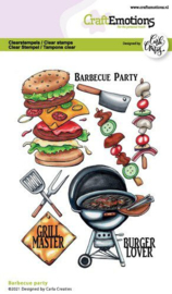 130501/1511 CraftEmotions clearstamps A6 Barbecue party Carla Creaties