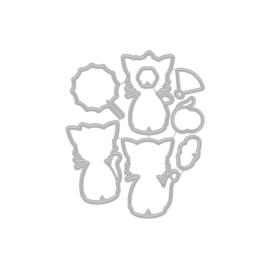 627045 Hero Arts Frame Cut Dies Kittens In Kimonos