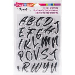 307681 Stampendous Perfectly Clear Stamps Brush Alphabet Caps