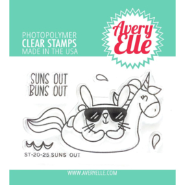 634450 Avery Elle Clear Stamp set Suns Out