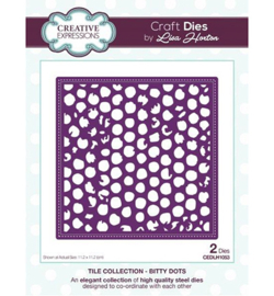 CEDLH1053 Cutting & embossing Bitty Dots