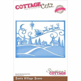 118644 CottageCutz Elites Die Santa Village Scene