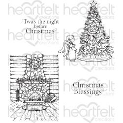 "074223 Heartfelt Creations Cling Rubber Stamp Set Winter's Eve 5""X6.5"""