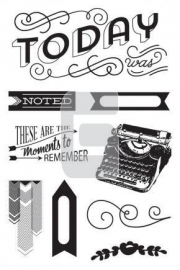 394750 Basic Grey Capture Cling Stamps By Hero Arts Moments To Remember