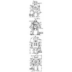 345190 Tim Holtz Mini Blueprints Strip Cling Rubber Stamps Robot
