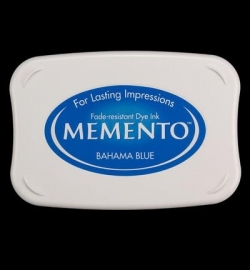 407305 Memento Full Size Dye Inkpad Bahama Blue
