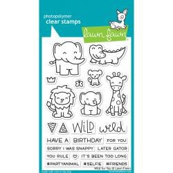 "LF1413 Lawn Fawn Clear Stamps Wild For You 4""X6"""