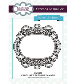 UMS837 To Die For Stamp Caroline's Elegant Damask
