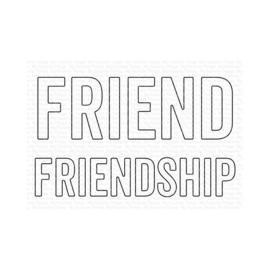 MFT1928 My Favorite Things Die-namics Die Friend & Friendship