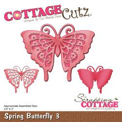 "303313 CottageCutz Elites Die Spring Butterfly 3, 2.6""X2"""