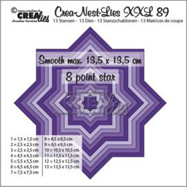 115634/0189 Crealies Crea-Nest-Lies XXL no 89 gladde 8 puntige ster