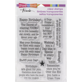 645718 Stampendous Perfectly Clear Stamps Birthday Age