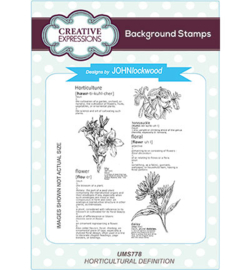 UMS778 Background Stamp Horticultural Definition