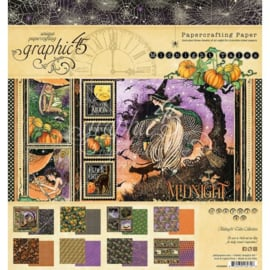 """G4502282 Graphic 45 Double-Sided Paper Pad Midnight Tales 8""""X8"""" 24/Pkg"""