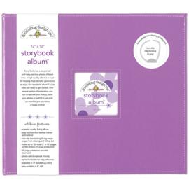 "095185 Doodlebug Storybook Album Lilac 12""X12"""
