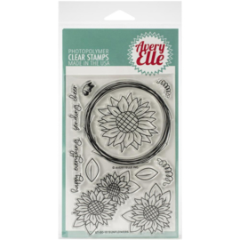 "617097 Avery Elle Clear Stamp Set Sunflowers 4""X6"""