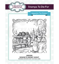 UMS896 Stempel Denise's Snowy Night