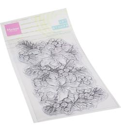 MM1649 Marianne Design Art stamps Poinsettia