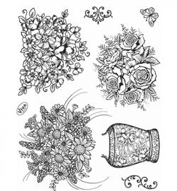 6977 Viva Decor Clear StampsTemple Vase